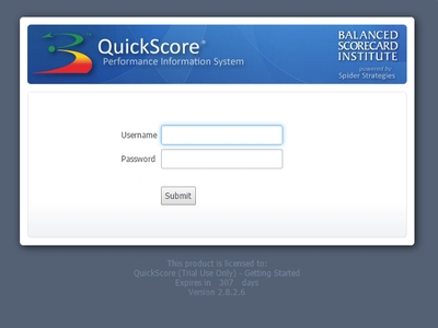 Install - balanced scorecard software